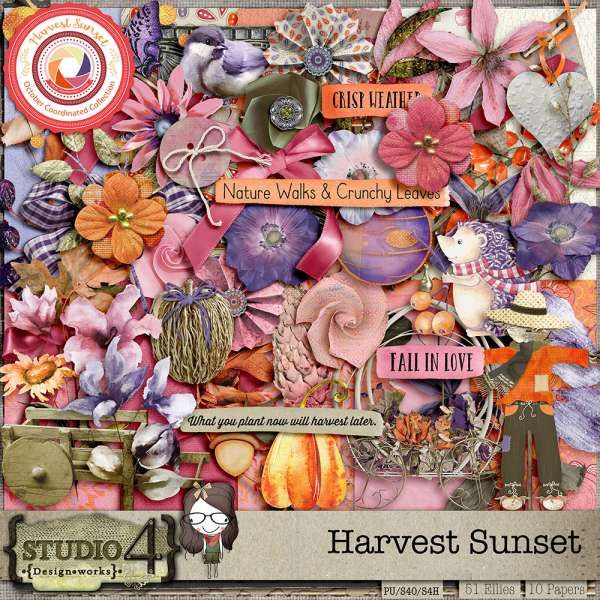 Digital Art :: Kits :: Harvest Sunset - The Kit