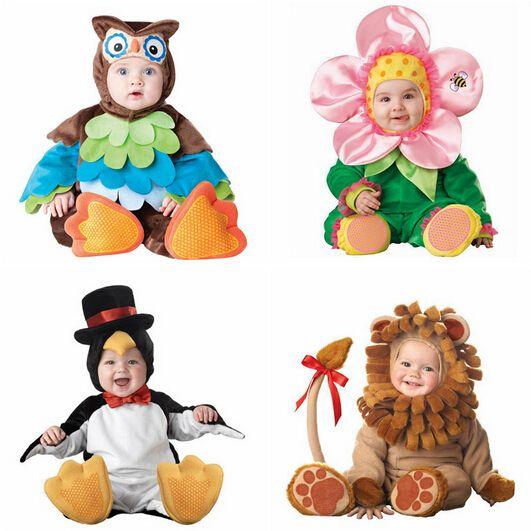 Kinder Kleidung Fleece Strampler Set Baby Jungen Mädchen Overalls Overalls 2015 Winter Tier Cosplay Formen Halloween Weihnachtskostüm