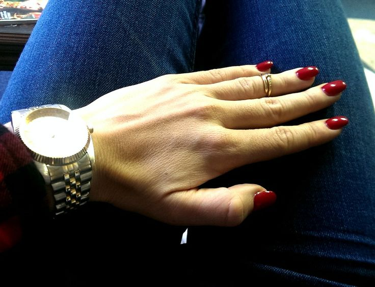 My new red nails.