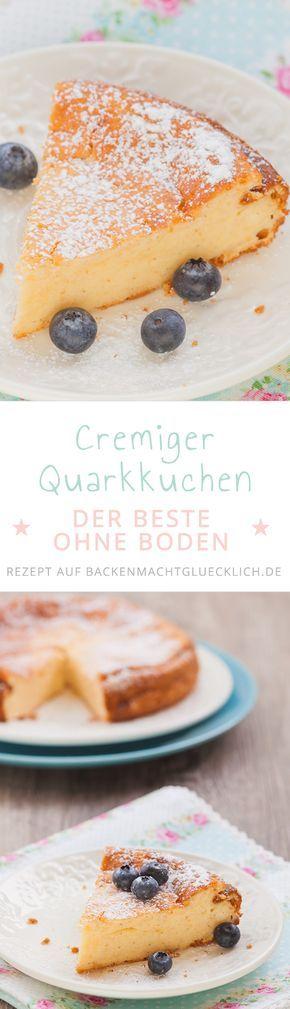 Für alle, die am liebsten Käsekuchen ohne Boden essen: Dieser Quarkkuchen ist wunderbar cremig und soft. Der Käsekuchen ohne Boden schmeckt auch mit untergehobenen Rosinen oder Cranberrys.
