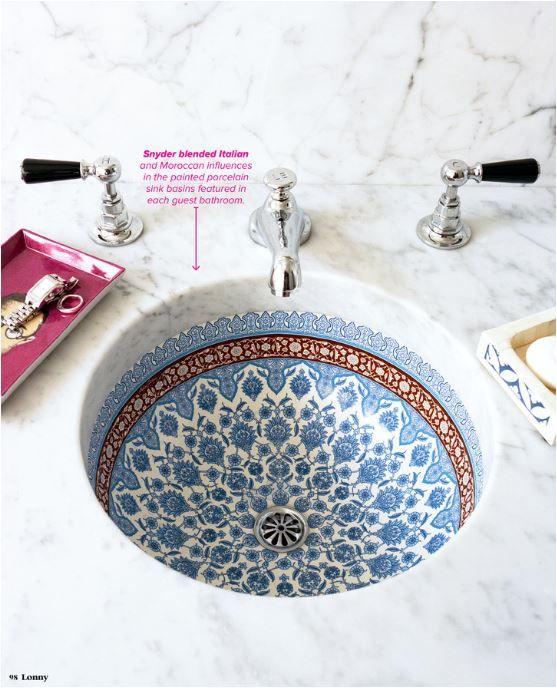 painted porcelain sink basin