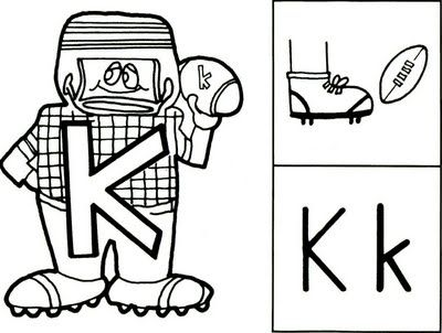 k is for kick (this has a cute little rhyme with it)