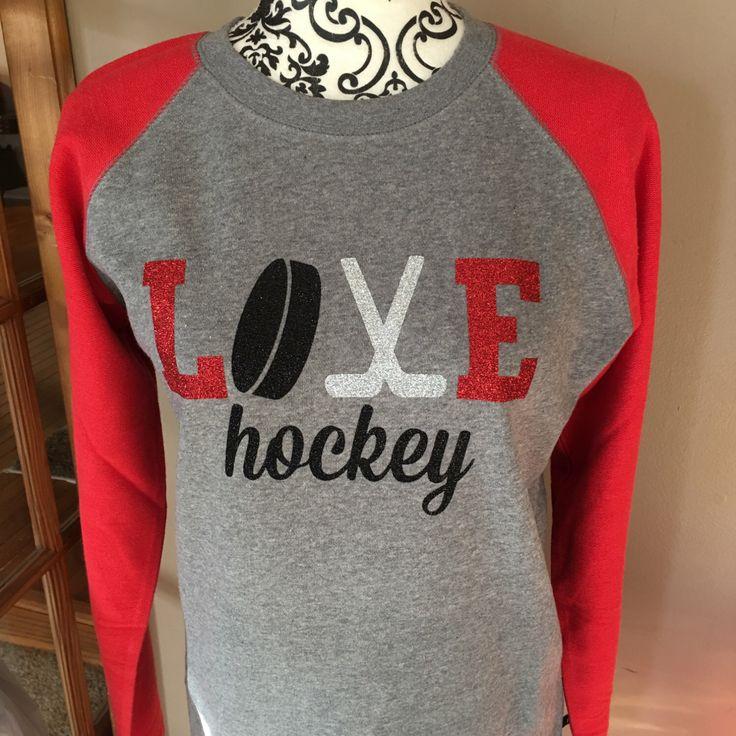 Women's, Hockey Mom Love Hockey, Glitter Light Fleece -- Skater and Goalie Designs -- a MUST for Hockey Moms & Grandmas by ArtfulNiche on Etsy https://www.etsy.com/listing/462778290/womens-hockey-mom-love-hockey-glitter