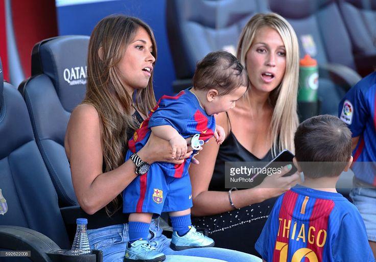 Sofia Balbi, the wife of Luis Suarez, and Antonella Roccuzzo,the wife of Leo…