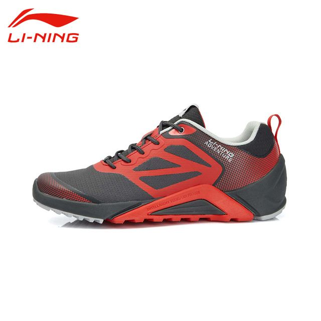 Li-Ning Men's Outdoor Portable Sport Running Shoes Li Ning Breathable Damping PU+Fabric Non-Slip Sports Sneakers