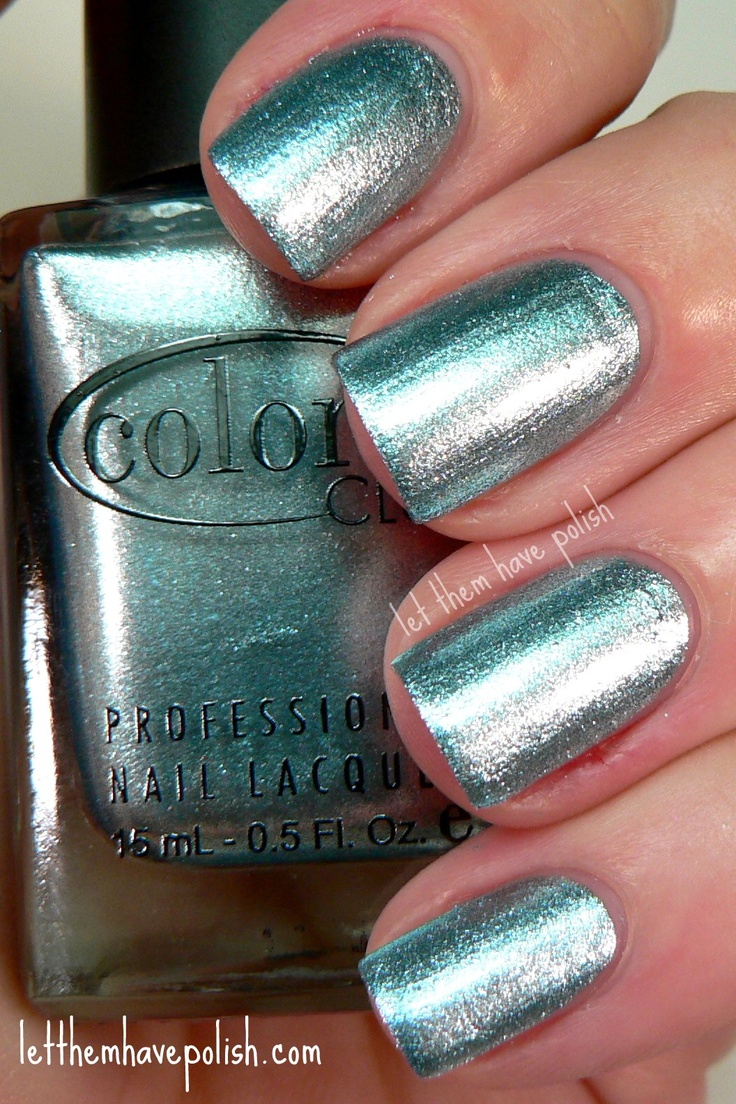 I love this colour!  (Lumin-icecent from Color Club Foiled Collection): Nails Inspiration, Nails Art, Hair Make Up Nails, Nails Colors, Nails Power, Hair Nails Make Up, Colors Club, Beautiful, Nails On