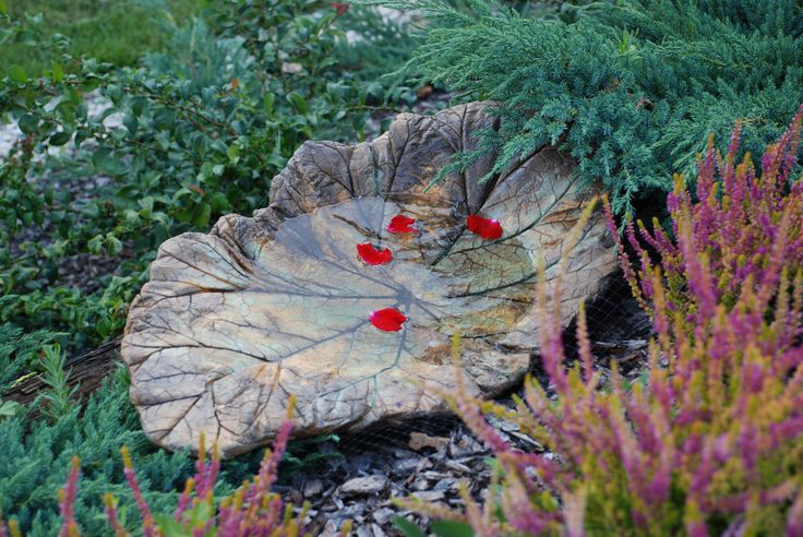 My favourite hand made birdbath. Beautiful!