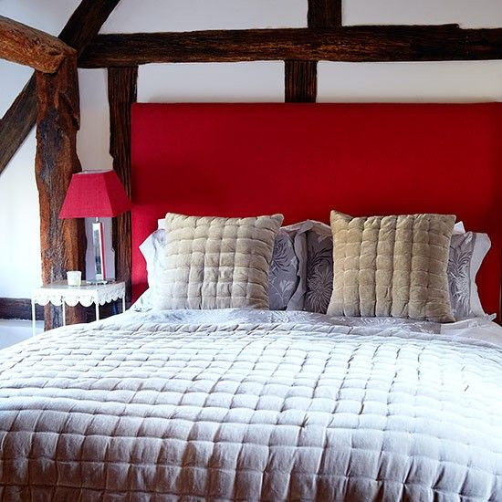 Inject some bright colour into a neutral bedroom with a bold  red headboard. Best 25  Red headboard ideas on Pinterest   Orange upstairs