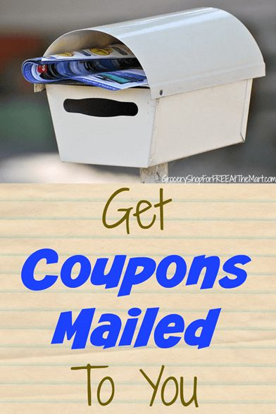 How to Get Coupons Mailed to You! In the past, we've talked about how to find coupons and how to have certain printable coupons mailed to you, but did you know that companies will mail you coupons?…