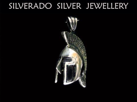 Sterling Silver 925 Ancient Greek Leonidas Spartan 3D Helmet on Etsy, 67,00€
