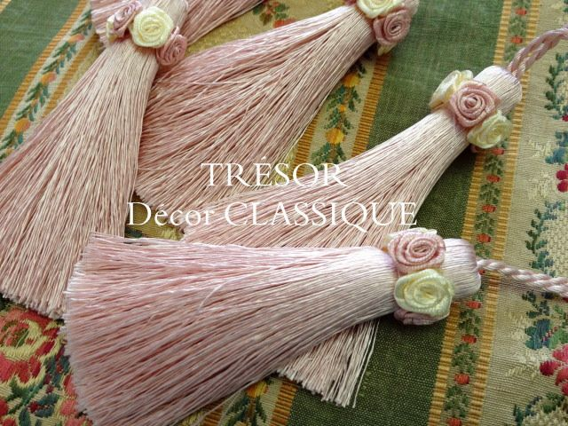 Mini Tassel : Victorian Rose (original) http://www.decorclassique.com