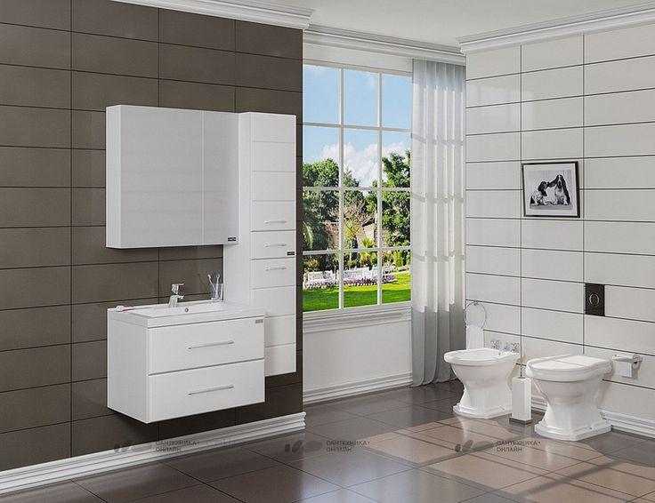 Мебель для ванной СанТа Омега 70 подвесная купить в магазине Сантехника-онлайн.Ру