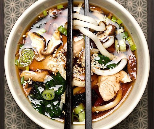 Asian Recipes Udon-Nudel-Suppe
