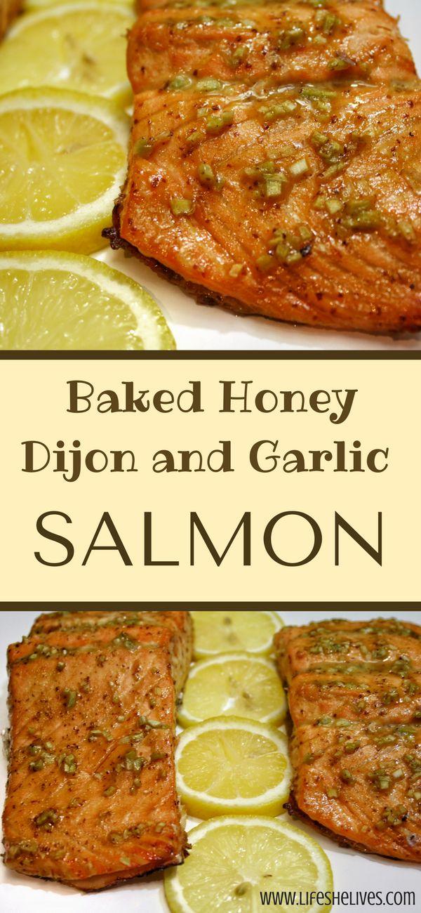 Honey Dijon & Garlic Salmon | Baked Salmon | Fish Recipes | Salmon With Brown Sugar