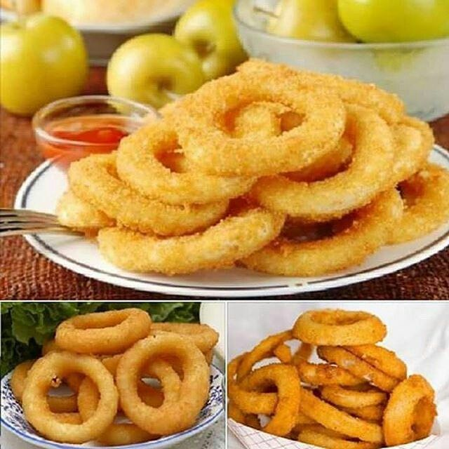 @Regrann from @fazedoradecomida -  OsAnéis de Cebola (Onion Rings)são fáceis de fazer econômicos e ficam deliciosos. Eles são um excelente acompanhamento para suas refeições e para o seu churrasco e também são perfeitos como aperitivo. Confira!!! INGREDIENTES 2 cebolas cortadas em rodelas 3 xícaras chá de cerveja 2 colheres de chá de vinagre Óleo para fritar 3/4 xícara de chá de farinha de trigo 3/4 xícara de chá de amido de milho 1 colher de chá de fermento químico 1 colher de chá de…