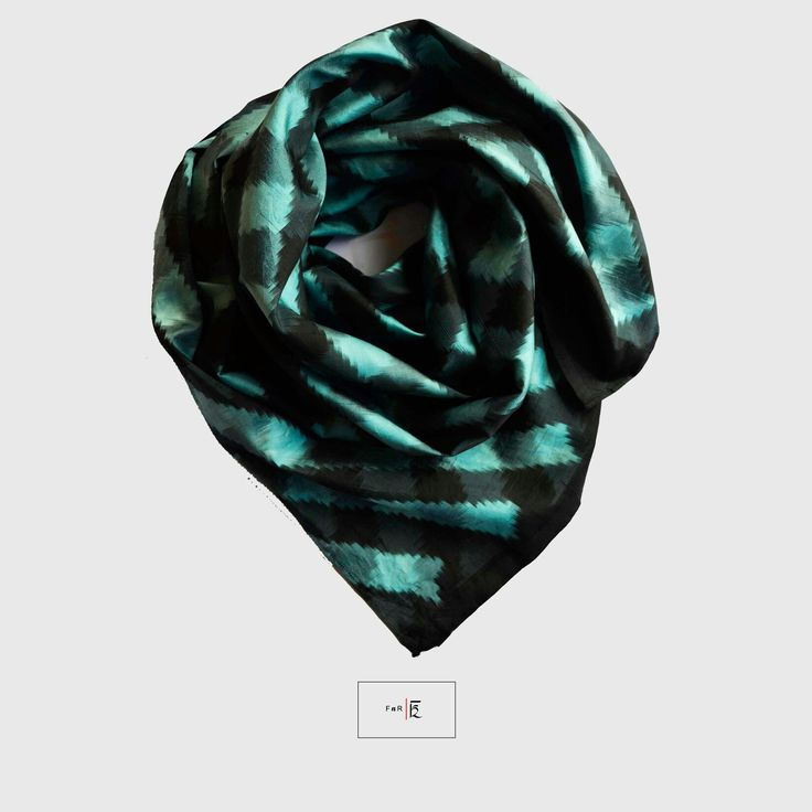 Cosy up with this Mulberry silk ikat scarf-perfect companion for a cold evening out!
