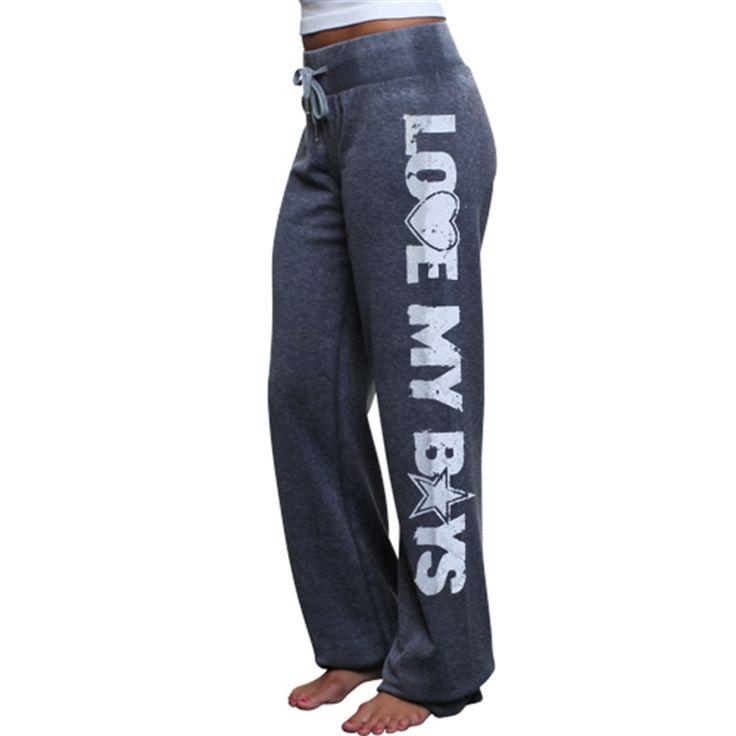 Dallas Cowboys Ladies Suzie Heathered Fleece Pants - Navy Blue