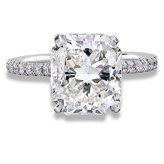2.61 Carat Radiant Cut Diamond Engagement Ring