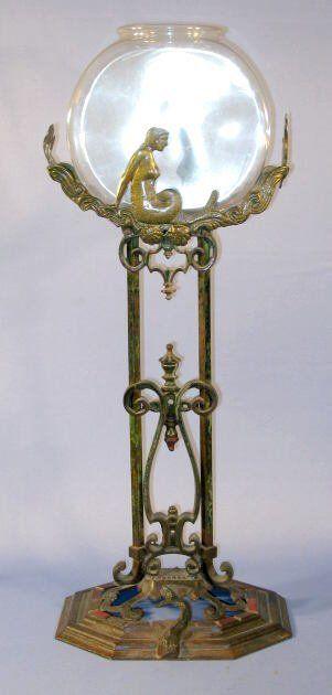 Art Nouveau  Soporte de hierro Pecera