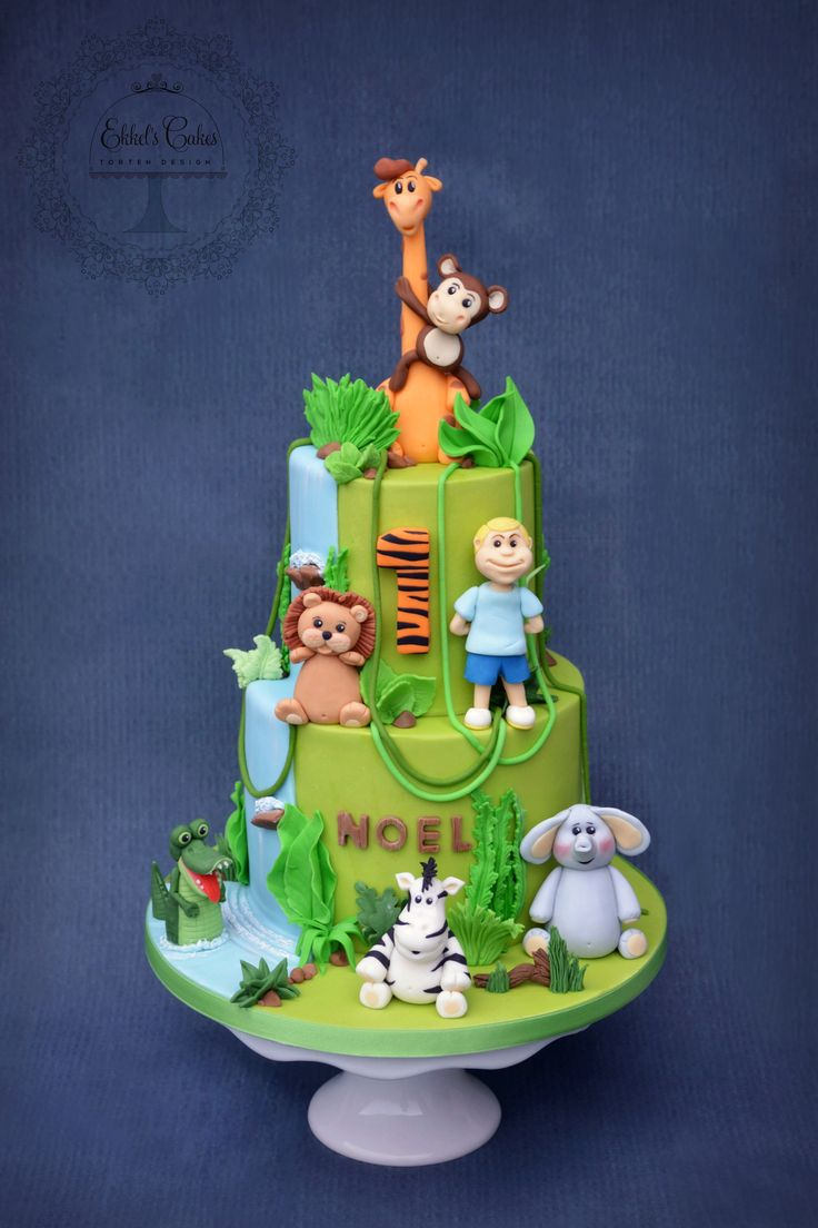 #kindertorte #kind #affe #1geburtstag # cake #boy #Dschungel #jungle #fondant #джунгли #животные #детский #торт #жираф #лев #обезьяна #мастика #zoo #elefant