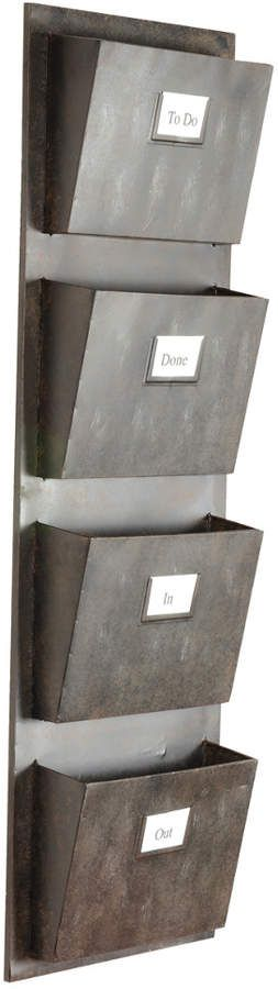 Linon Industrial Four Slot Mailbox