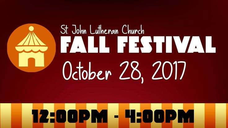 Join St. John Lutheran Church for their annual Fall Festival this Saturday from Noon to 4 p.m.   There will be Game Booths, Bounce House, Face Painting, Cake Walk, Petting Zoo, Pony Rides, Train Ride and more!   All activities are FREE. Vendor Alley with a variety of unique items for sale! BBQ lunch available for purchase.   ***We will be collecting canned goods for the local food banks and pet food for P.A.W.S***