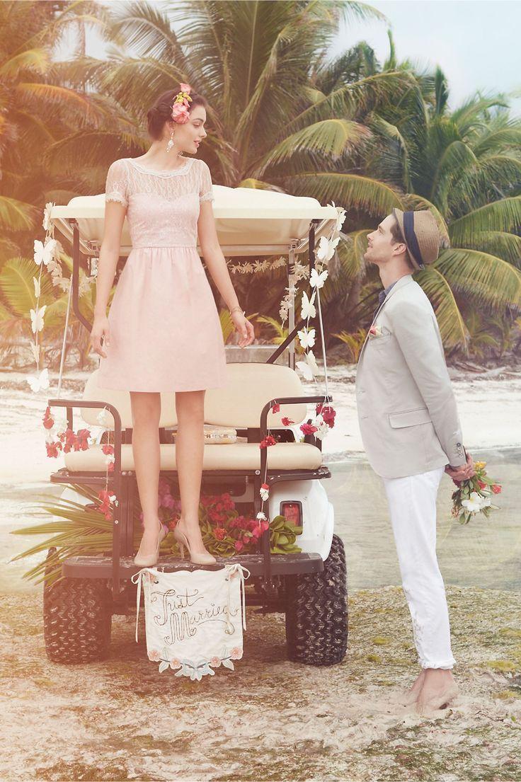 前撮りは楽しくしたい♡ピンクのミニ スカート ウェディングドレス・カラードレス・花嫁衣装のまとめ一覧♡