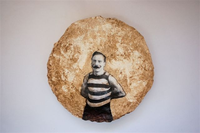 paper mache collage bowl  Michael Tietz-Geldenhuys