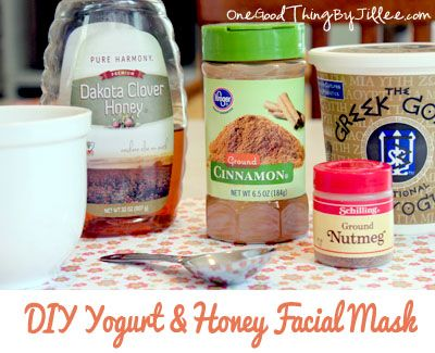 DIY Skin Brightener! Yogurt and Honey Facial MaskPlain Yogurt, Ground Nutmeg, Honey Facials, Skin Brightening, Ground Cinnamon, Yogurt Honey, Facials Masks, Face Masks, Diy Skin
