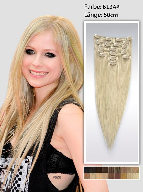 Clip in Extensions----50cm----613a#----100g ( Clips inklusived)