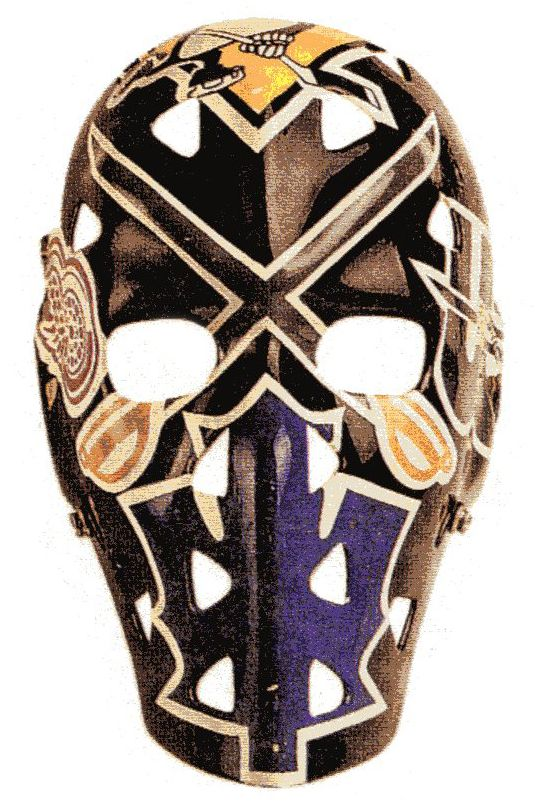 Al Smith Buffalo Sabres (mask represents all teams he played for)