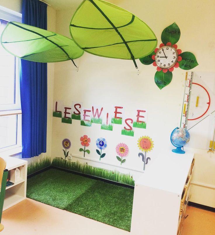 Unsere Lesewiese 🌱🌷mit Kunstrasen, Grasaufkleber und selbstgestalteten Reg…