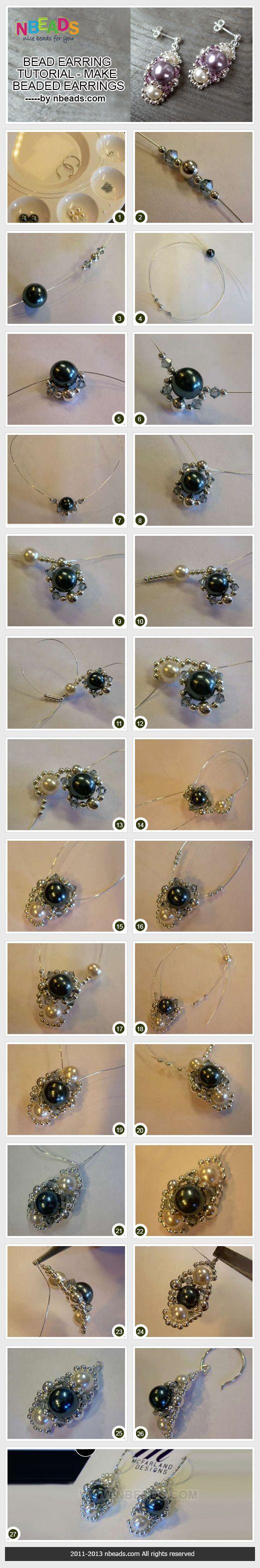 bead earring tutorial - make beaded earrings