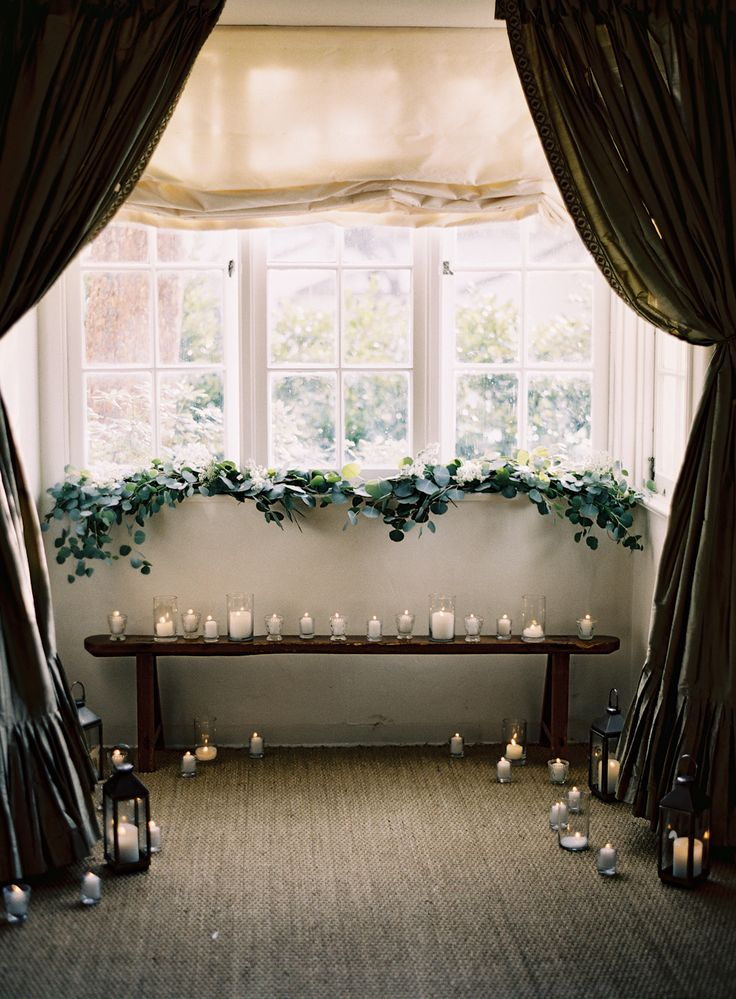 Candles + curtains create such an intimate setting!  Photography by Ashley Keleman  Read more - http://www.stylemepretty.com/2014/02/07/elegant-la-jolla-elopement/