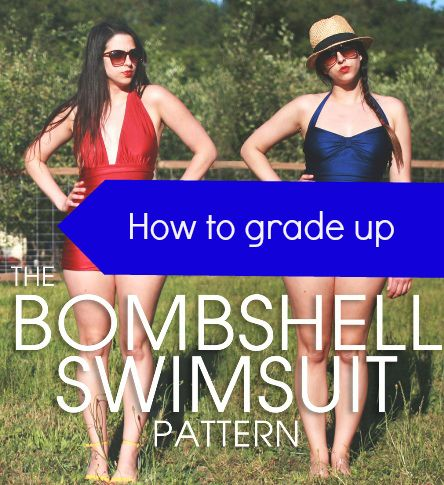 Tutorial: How to grade up the Bombshell swimsuit |Cashmerette
