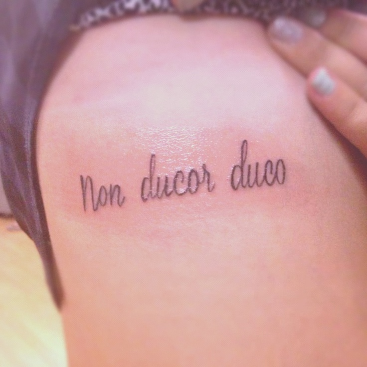 Non ducor duco; I am not led, I lead  Finally my own tattoo that I can pin!