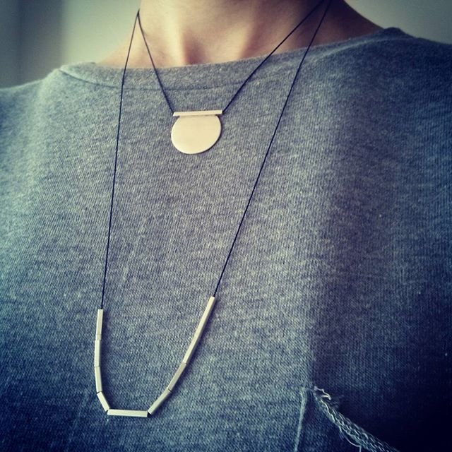 Wearing them layered today #layerednecklace #tothemetal #etsy #etsyshop #jewelrygram #jewelrydesign #instajewelry #fashionjewelry #fashion #handmadejewelry #necklace #style #jewelry #silverjewelry #silver #thessaloniki #greece