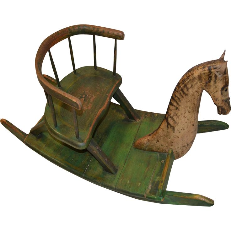 ShooFly Rocking Horse Childs Chair19th C  Vintage