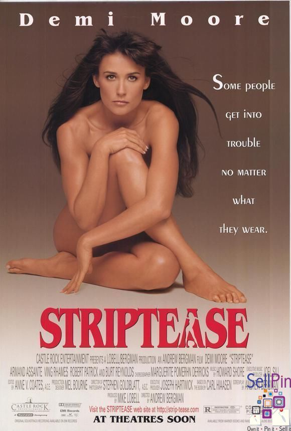 $20.25: Striptease Original Movie Poster 27x40 Demi Moore Burt Reynolds