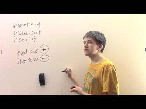 Slovní úlohy o pohybu - za sebou - YouTube