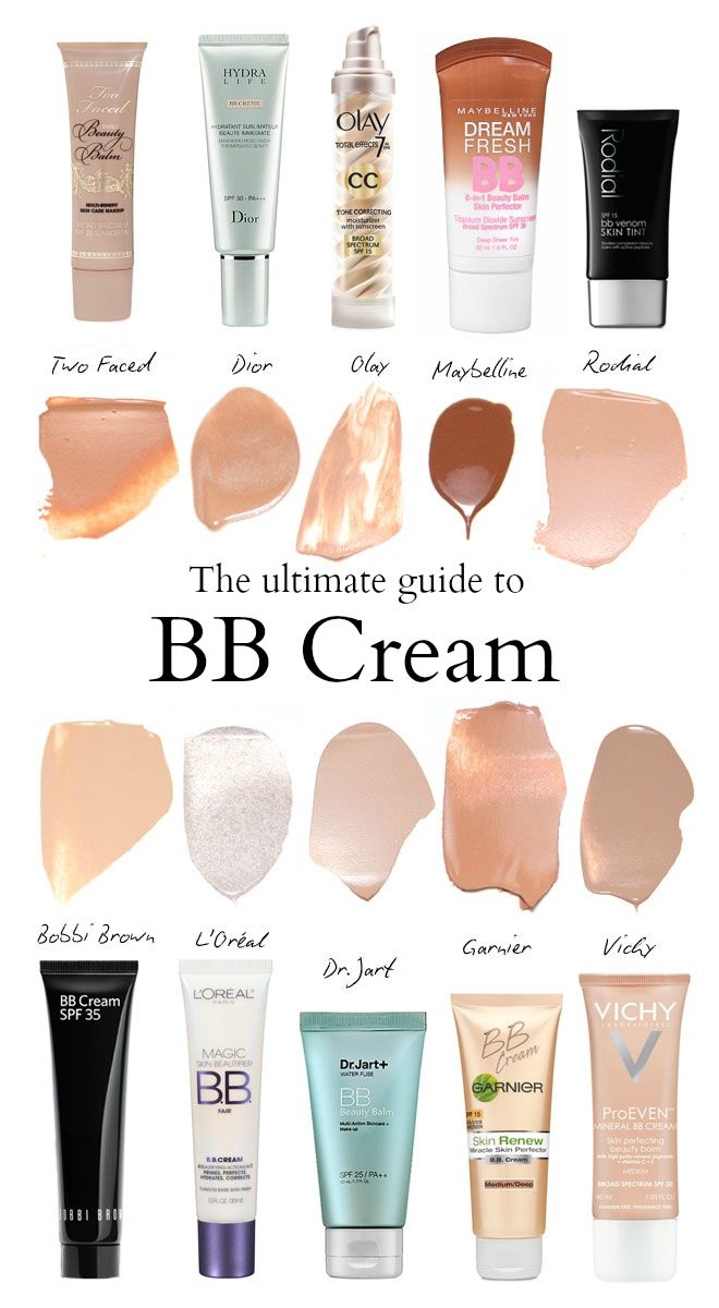 The Guide BB Creams For Every Skin Type And Tone. From DailyMakeover.com
