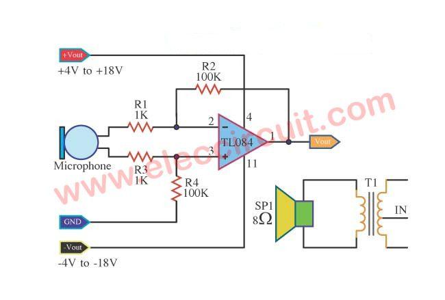 TL084 circuits JFET Input Op-amp datasheet | Power