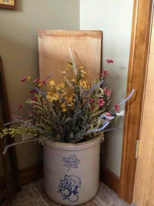 Ideas Old Decorating Crocks
