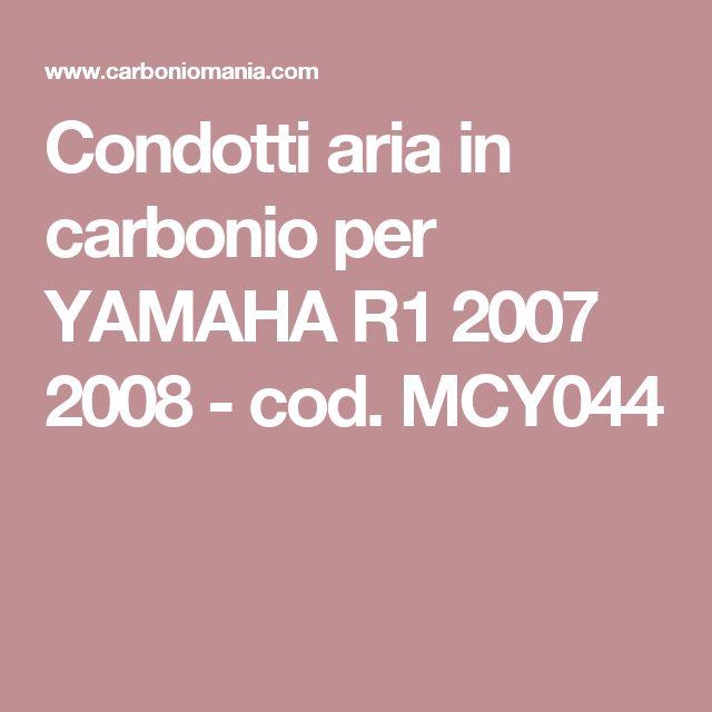 Condotti aria in carbonio per YAMAHA R1 2007 2008 - cod. MCY044