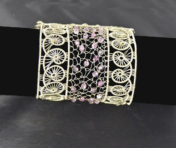 Silver arabesques bracelet on Etsy, £78.72