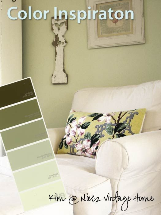 Pale green walls are a classic choice for a cottage room. They can be nostalgic, edgy or everything in between. Paired with white, as in this airy room