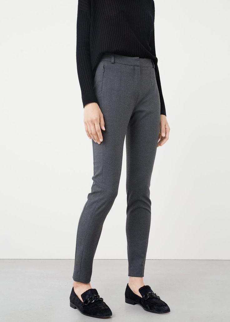 Garniturowe spodnie rurki | MANGO