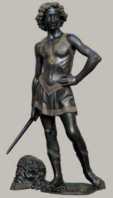 Andrea del Verrocchio, David, v. 1470. Bronze, hauteur: 1,25 m. Musée national du Bargello, Florence.