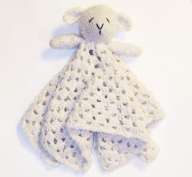 Free Crochet Lamb Cuddle Blanket Pattern : Baby Lamb Lovey pattern by Briana Olsen. Knit & Crochet ...