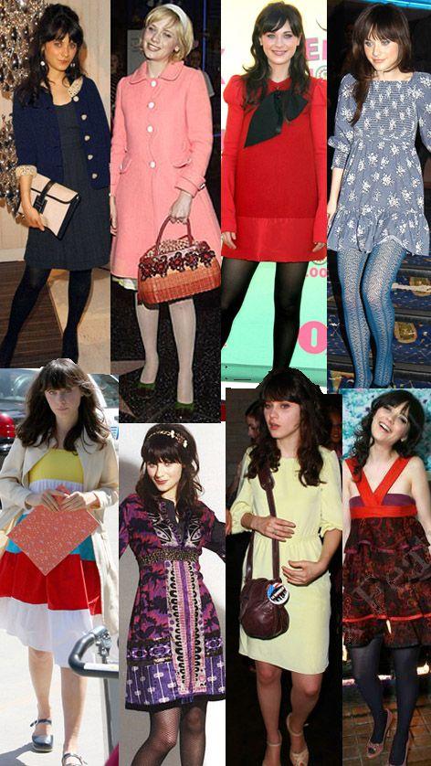 Zooey Deschanel love her style!